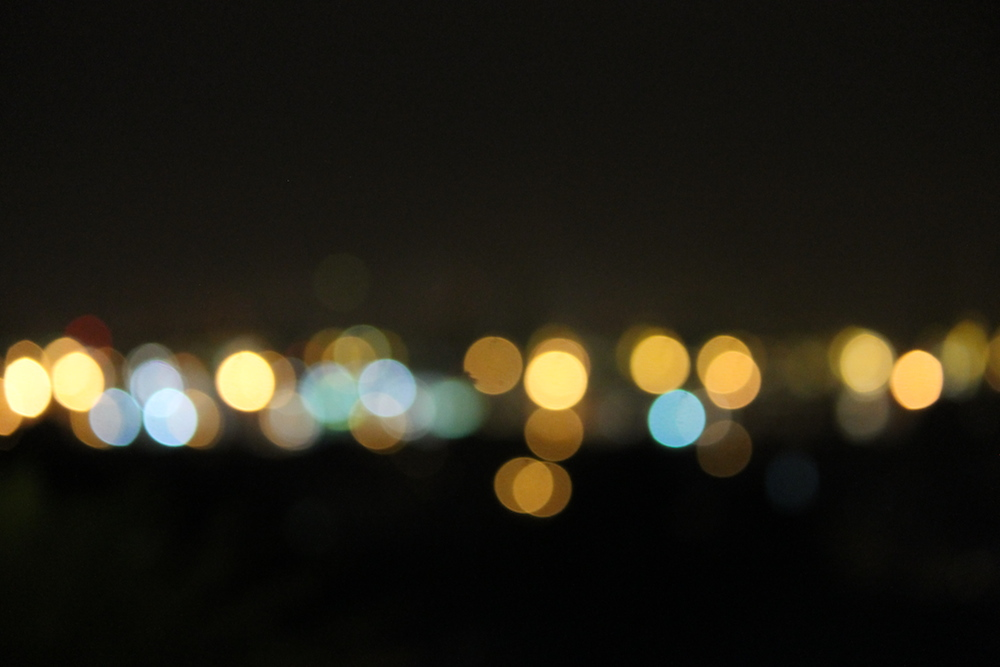 Bokeh of the Singapore Skyline
